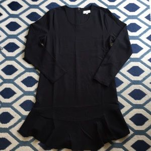 NEW Mud Pie Black Long Sleeved Dress Ruffle Hem
